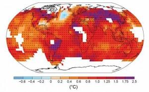 Übersicht Erderwärmung 1901-2012
