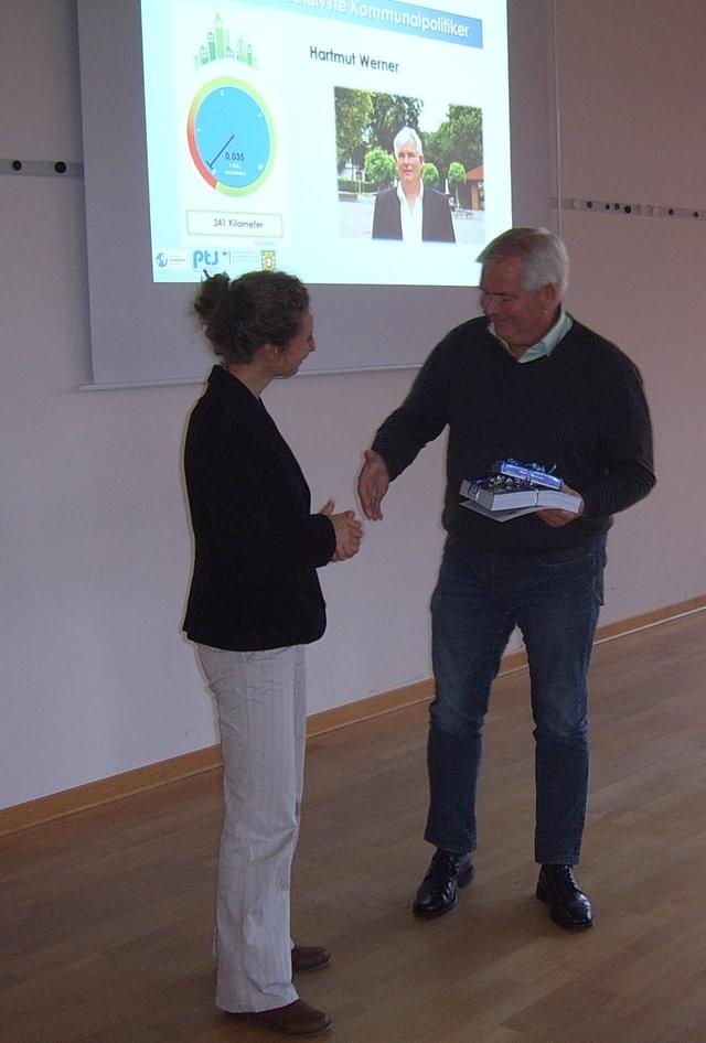 Fahrradaktivster Kommunalpolitiker: Hartmut Werner